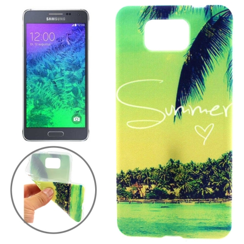 Ultrathin Colorful TPU Protective Case for Samsung Galaxy Alpha (Scenery of Summer Pattern)