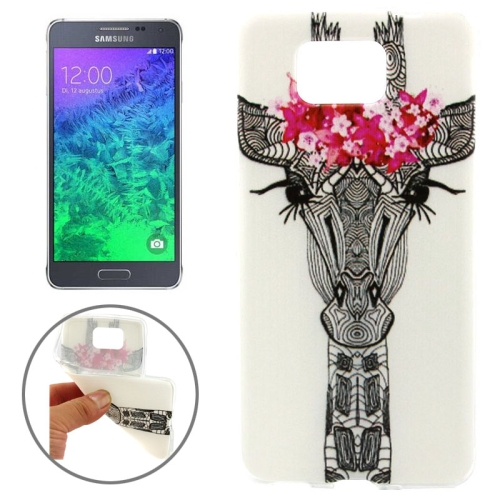 Ultrathin Colorful TPU Protective Case for Samsung Galaxy Alpha (Creative Deer Pattern)
