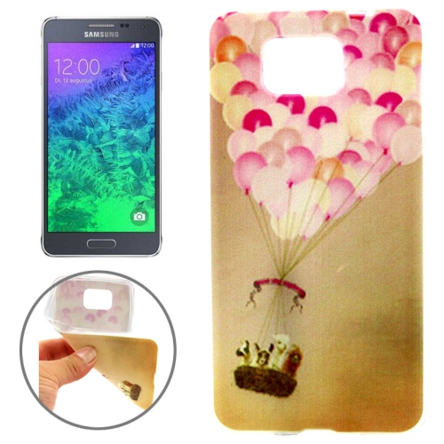 Ultrathin Colorful TPU Protective Case for Samsung Galaxy Alpha (Lovely Fire Balloon Pattern)