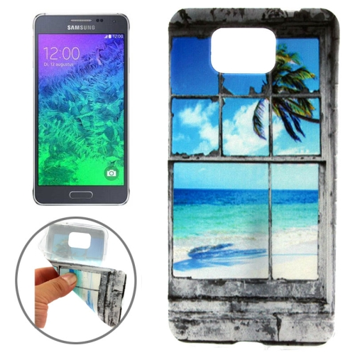 Ultrathin Colorful TPU Protective Case for Samsung Galaxy Alpha (Marine Scenery Pattern)