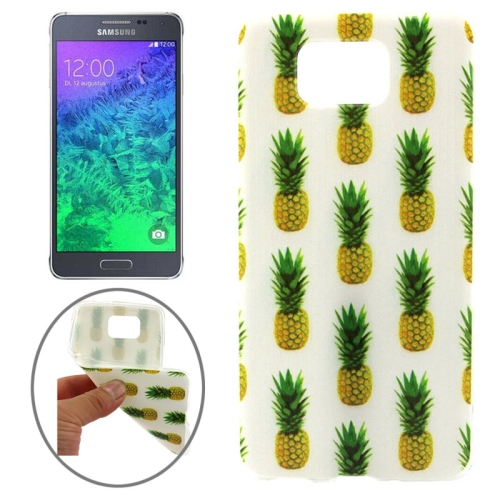 Ultrathin Colorful TPU Protective Case for Samsung Galaxy Alpha (Pineapple Pattern)