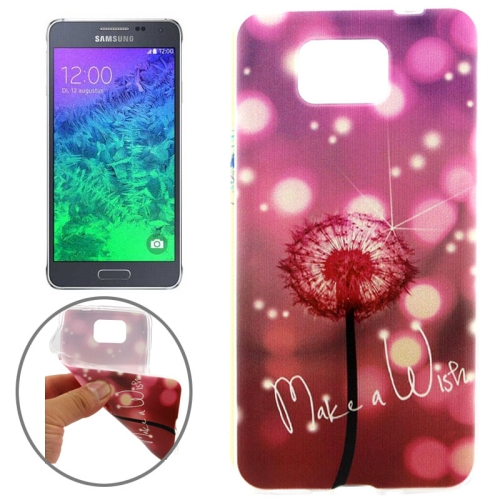 Ultrathin Colorful TPU Protective Case for Samsung Galaxy Alpha (Dreamy Dandelion Pattern)