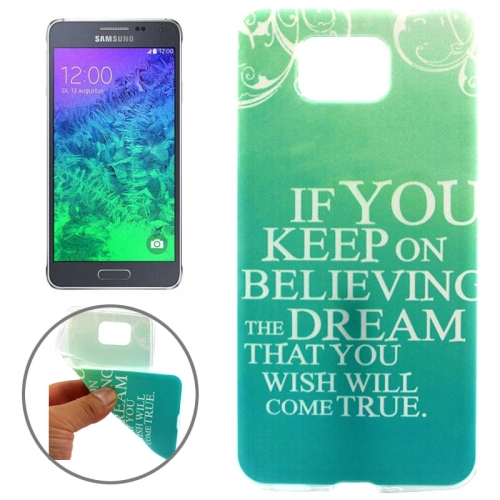 Ultrathin Colorful TPU Protective Case for Samsung Galaxy Alpha (Words Pattern)