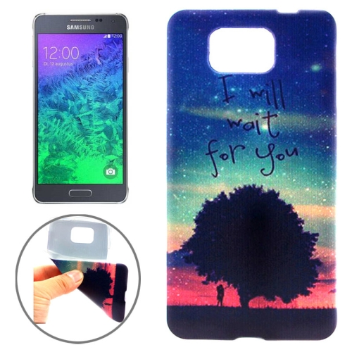 Ultrathin Colorful TPU Protective Case for Samsung Galaxy Alpha (the Starry Sky Pattern)