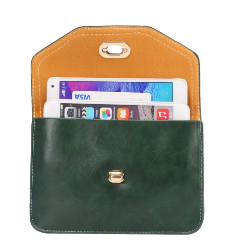 6.3 Inch Universal Crazy Horse Texture Shoulder Bag with Lock Design for iPhone 6 Plus etc (Green)