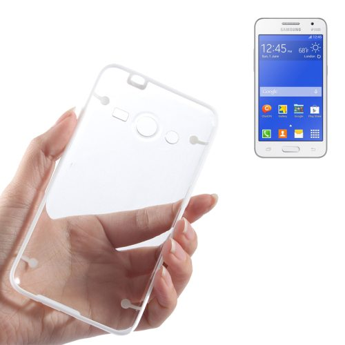 Ultrathin Luminous Frame Hard Transparent PC Back Case for Samsung Galaxy Core 2/ G355H (White)