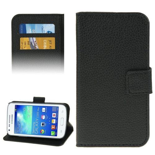 Litchi Texture Flip Wallet Leather Case for Samsung Galaxy Core Plus/ G3500 (Black)