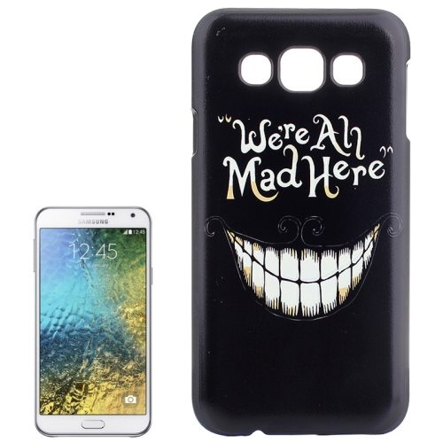 Various Designs Protective Hard PC Case for Samsung Galaxy E7 (Smiling Teeth Pattern)