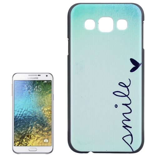 Various Designs Protective Hard PC Case for Samsung Galaxy E7 (Smile Pattern)