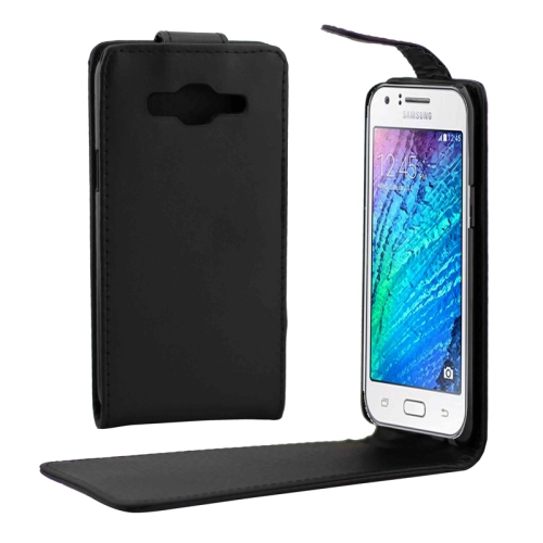 Vertical Magnetic Snap Flip Leather Case for Samsung Galaxy J5/ J500