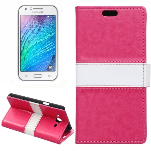 Crazy Horse Texture Color Matching Flip Leather Case with Holder & Card Slots & Wallet for Samsung Galaxy J7 (Rose)