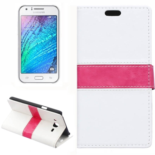 Crazy Horse Texture Color Matching Flip Leather Case with Holder & Card Slots & Wallet for Samsung Galaxy J7 (White)