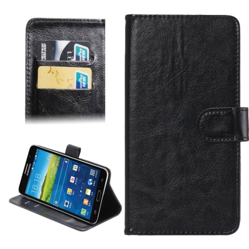 Crazy Horse Texture 360 Degree Rotating 5.5-6.3 Inch Universal Flip Leather Case for Samsung Galaxy Mega 6.3 etc (Black)