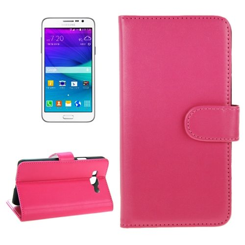 Magnetic Buckle Horizontal Flip Mobile Phone Case Cover for Samsung Galaxy Grand Max (Rose)