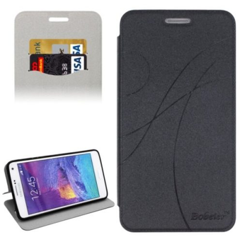 Knurling Texture Horizontal Folio Flip Leather Protective Case for Samsung Galaxy Note 4 N910 with Card Slots (Black)