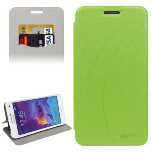 Knurling Texture Horizontal Folio Flip Leather Protective Case for Samsung Galaxy Note 4 N910 with Card Slots (Green)