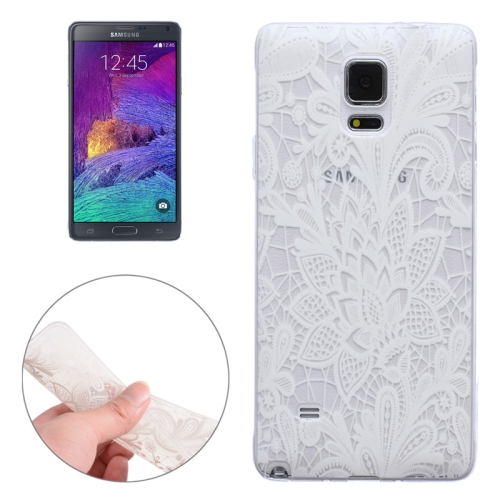 Translucent Flower Pattern Ultrathin Soft TPU Protective Case for Samsung Galaxy Note 4 (Pattern 1)