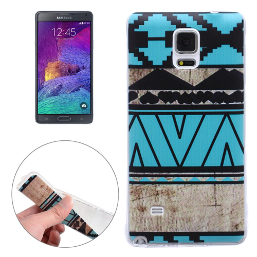Ultra-thin Transparent TPU Protective Case for Samsung Galaxy Note 4 (Tribe Pattern)