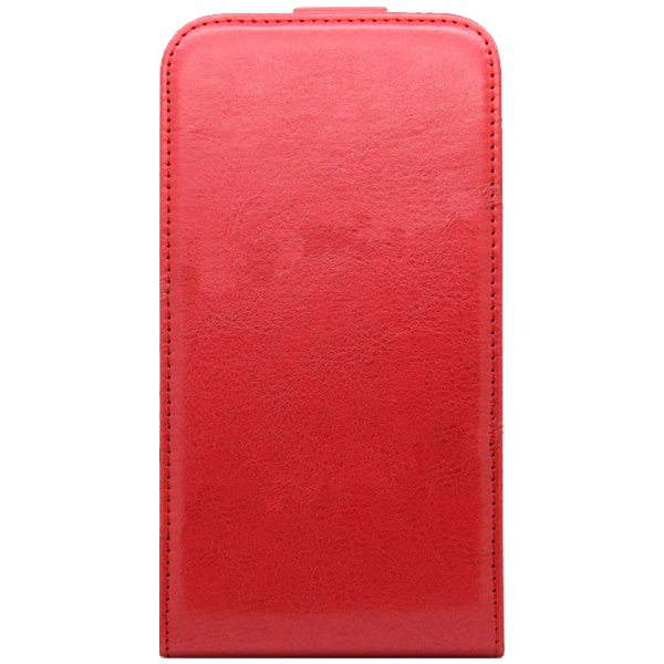 Newest Crazy Horse Texture Vertical Flip PU Leather Cover Case for Samsung Galaxy S6 (Red)