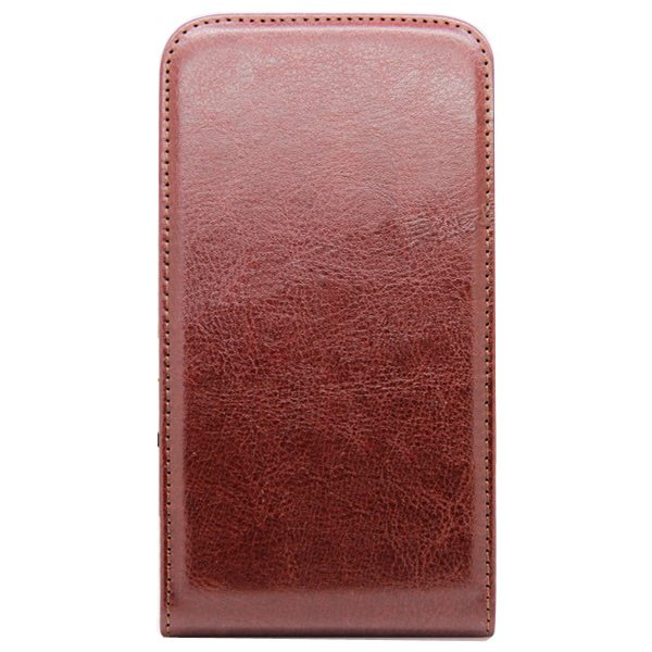 Newest Crazy Horse Texture Vertical Flip PU Leather Cover Case for Samsung Galaxy S6 (Dark Brown)