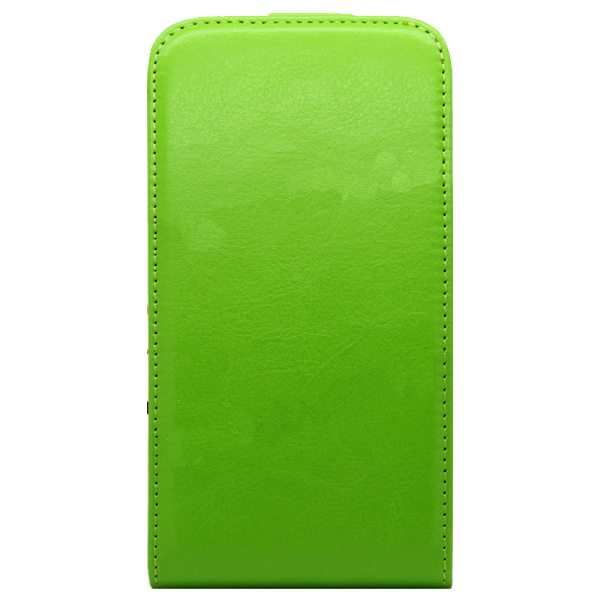 Newest Crazy Horse Texture Vertical Flip PU Leather Cover Case for Samsung Galaxy S6 (Green)