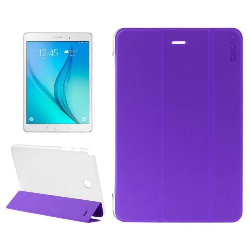 3-Folding Pattern Fresh and Cool PU Tablet Case for Samsung Galaxy Tab A 8.0 / T350 (Purple)
