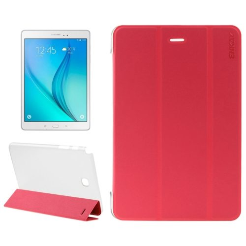 3-Folding Pattern Fresh and Cool PU Tablet Case for Samsung Galaxy Tab A 8.0 / T350 (Red)