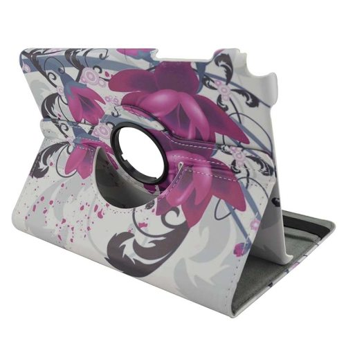 360 Degree Rotation Horizontal Flip Leather Case for Samsung Galaxy Tab A 8.0 / T350 with Holder (Elegant Flower Pattern)