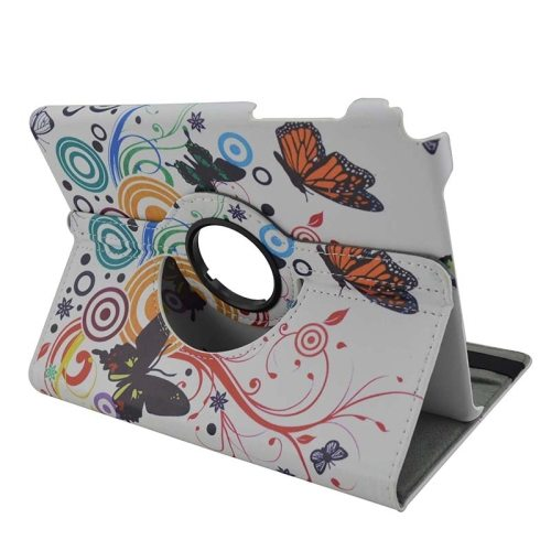 360 Degree Rotation Horizontal Flip Leather Case for Samsung Galaxy Tab A 8.0 / T350 with Holder (Butterflies Pattern )