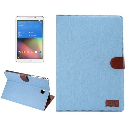 Denim Texture Leather Case for Samsung Galaxy Tab A 8.0 with Holder & Card Slots (Blue)
