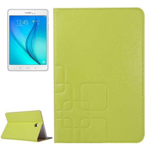 Crazy Horse and Lattice Texture Leather Case for Samsung Galaxy Tab A 8.0 / T350 with Holder & Card Slots (Green)