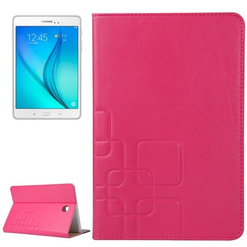 Crazy Horse and Lattice Texture Leather Case for Samsung Galaxy Tab A 8.0 / T350 with Holder & Card Slots (Rose)