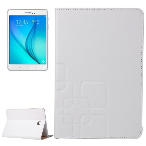 Crazy Horse and Lattice Texture Leather Case for Samsung Galaxy Tab A 8.0 / T350 with Holder & Card Slots (White)
