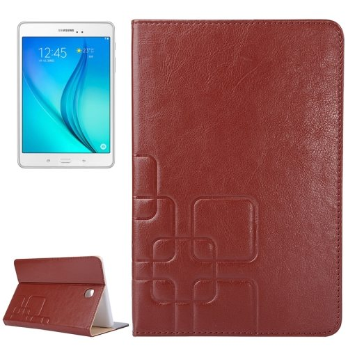 Crazy Horse and Lattice Texture Leather Case for Samsung Galaxy Tab A 8.0 / T350 with Holder & Card Slots (Brown)