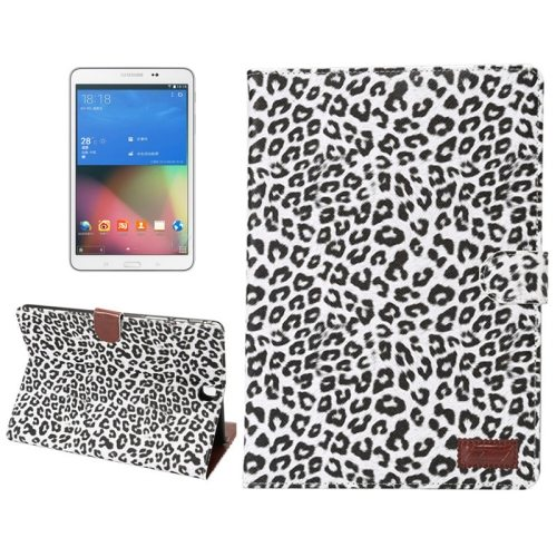 Leopard Pattern PU Leather Flip Case for Samsung Galaxy Tab A 8.0/ T350 (White)