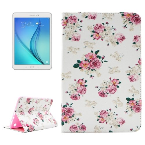 ENKAY Colorful Pattern Flip Stand Leather Wallet Case for Samsung Galaxy Tab A 8.0 T350 (Flowers)