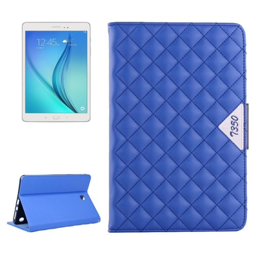 Diamond Pattern Flip Leather Case for Samsung Galaxy Tab A 8.0 with Card Slots and Holder (Blue)