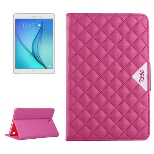 Diamond Pattern Flip Leather Case for Samsung Galaxy Tab A 8.0 with Card Slots and Holder (Rose)