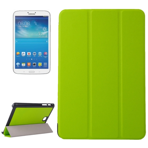 Karst Texture Leather Case for Samsung Galaxy Tab A 8.0 / T350 with 3-folding Holder (Green)