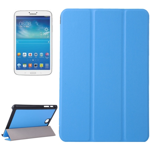 Karst Texture Leather Case for Samsung Galaxy Tab A 8.0 / T350 with 3-folding Holder (Baby Blue)