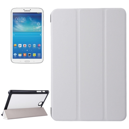 Karst Texture Leather Case for Samsung Galaxy Tab A 8.0 / T350 with 3-folding Holder (Silver)