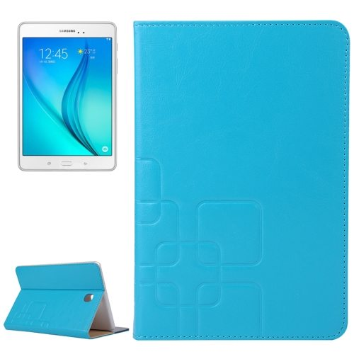 Crazy Horse and Lattice Texture Flip Stand Leather Wallet Case for Samsung Galaxy Tab A 8.0 T350 (Baby Blue)