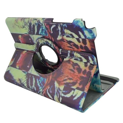360 Degree Rotation Horizontal Flip Leather Case for Samsung Galaxy Tab A 9.7 / T550 with Holder (Tiger Pattern )