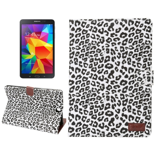 Leopard Pattern PU Leather Flip Case for Samsung Galaxy Tab A 9.7 (White)