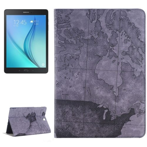 Map Pattern PU Leather Tablet Case Cover for Samsung Galaxy Tab A 9.7 4G LTE (Black)