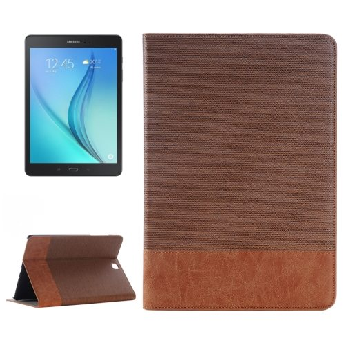 Cross Texture Leather Case for Samsung Galaxy Tab A 9.7 4G LTE / T555 (Coffee)