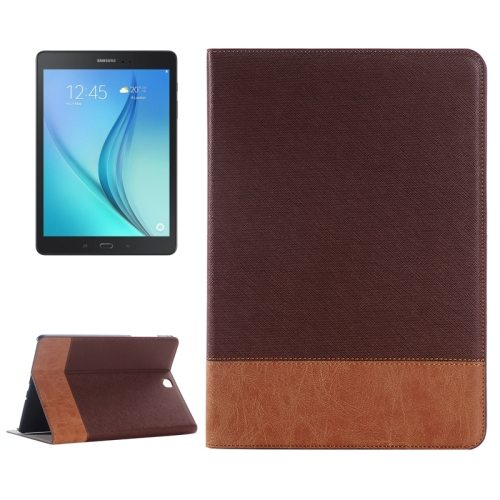 Cross Texture Leather Case for Samsung Galaxy Tab A 9.7 4G LTE / T555 (Brown)