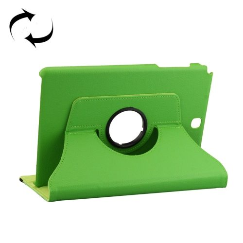 360 Degree Rotating Style Litchi Texture Leather Case for Samsung Galaxy Tab A 9.7 with Holder (Green)
