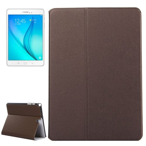 Frosted Pattern Flip Leather Case for Samsung Galaxy Tab A 9.7 with Holder (Coffee)
