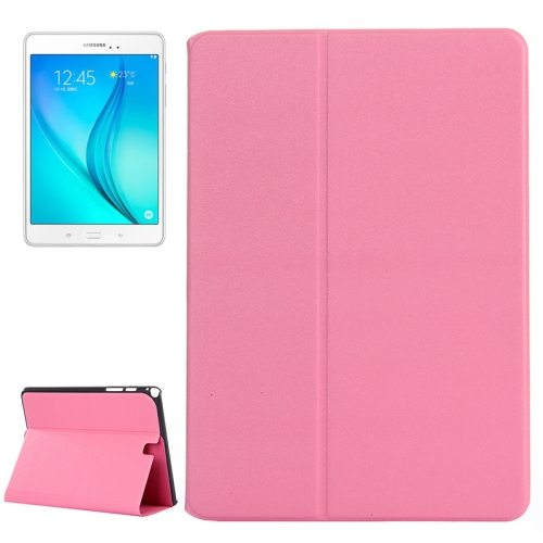 Frosted Pattern Flip Leather Case for Samsung Galaxy Tab A 9.7 with Holder (Pink)